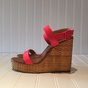 Kate Spade Hot Pink Wedges sz 37.5